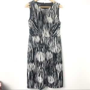 Nine West black and white stripped dress size 6